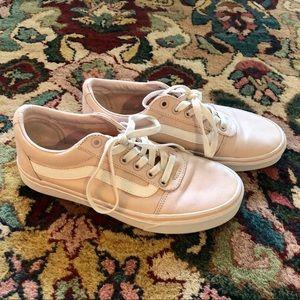 Vans Pink & White Old Skool Sneakers